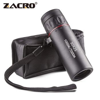 Zacro wysokiej rozdzielczości okular teleskopu 30X25 wodoodporny Mini przenośny Zoom wojskowy 10X zakres dla podróży polowanie tanie i dobre opinie Monokularowy ZJI0084BK Hunting Monocular Telescope