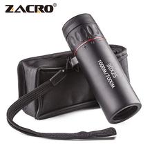 Zacro wysokiej rozdzielczości okular teleskopu 30X25 wodoodporny Mini przenośny Zoom wojskowy 10X zakres dla podróży polowanie tanie tanio Monokularowy ZJI0084BK Hunting Monocular Telescope