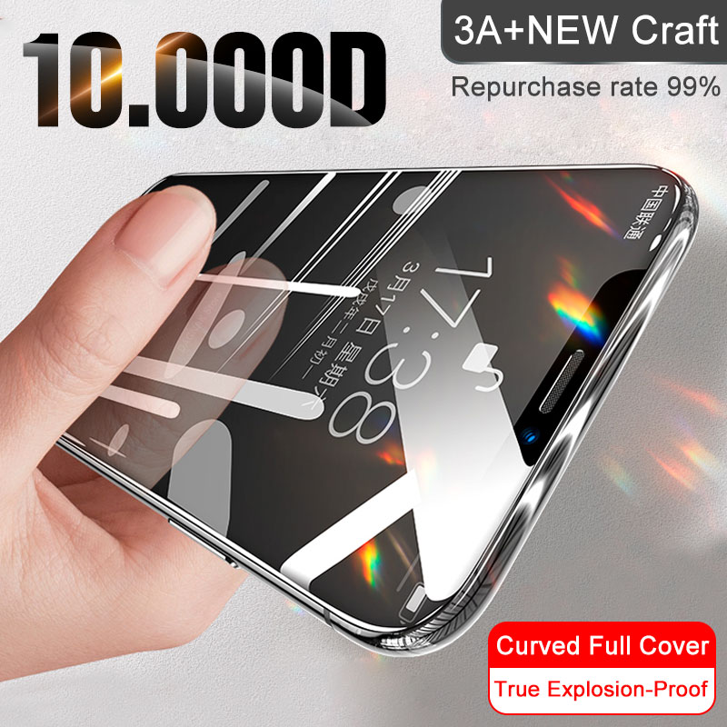 Curved Glass On For IPhone 11 Pro XS MAX XR X Full Cover Screen Protector Tempered Glass For IPhone SE 2020 10 7 8 6s Plus Film