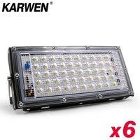6 teile/los Wasserdichte Ip65 LED Flutlicht 50W AC 220V 240V Spotlight Led Reflektor Flutlicht Im Freien Garten beleuchtung