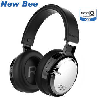New Bee Bluetooth Headphones Active Noise Cancelling Wireless Headset with Wireless Chariging Headphone Stand Dual Mic NFC - DISCOUNT ITEM  20 OFF Consumer Electronics