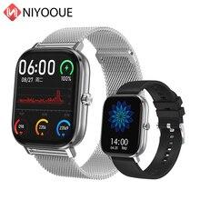 DT35 Đồng Hồ Thông Minh Nam Bluetooth Gọi Điện Tâm Đồ 1.54 Inch PK P8 GTS EH8 Đồng Hồ Thông Minh Smartwatch Nữ Áp Tập Thể Dục Cho Android ios Xiaomi