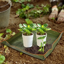 Garden Plant Seedling Repotting Tray Indoor Transplanting Operating Tidy Flower Potting Mat