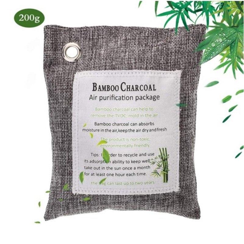 Натуральный Бамбуковый Уголь, Очищающий воздух, мешки, активированный уголь, поглотитель запаха, Влагоотделитель запаха для автомобиля, шк...