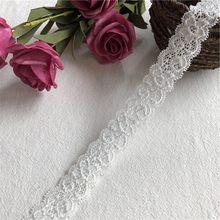 Tissu en dentelle à fleurs blanches brodées à chaud, 2.5cm, S1873, dubaï, couture, garniture de bricolage, tulle, ruban appliqué, collier pour robe de mariée