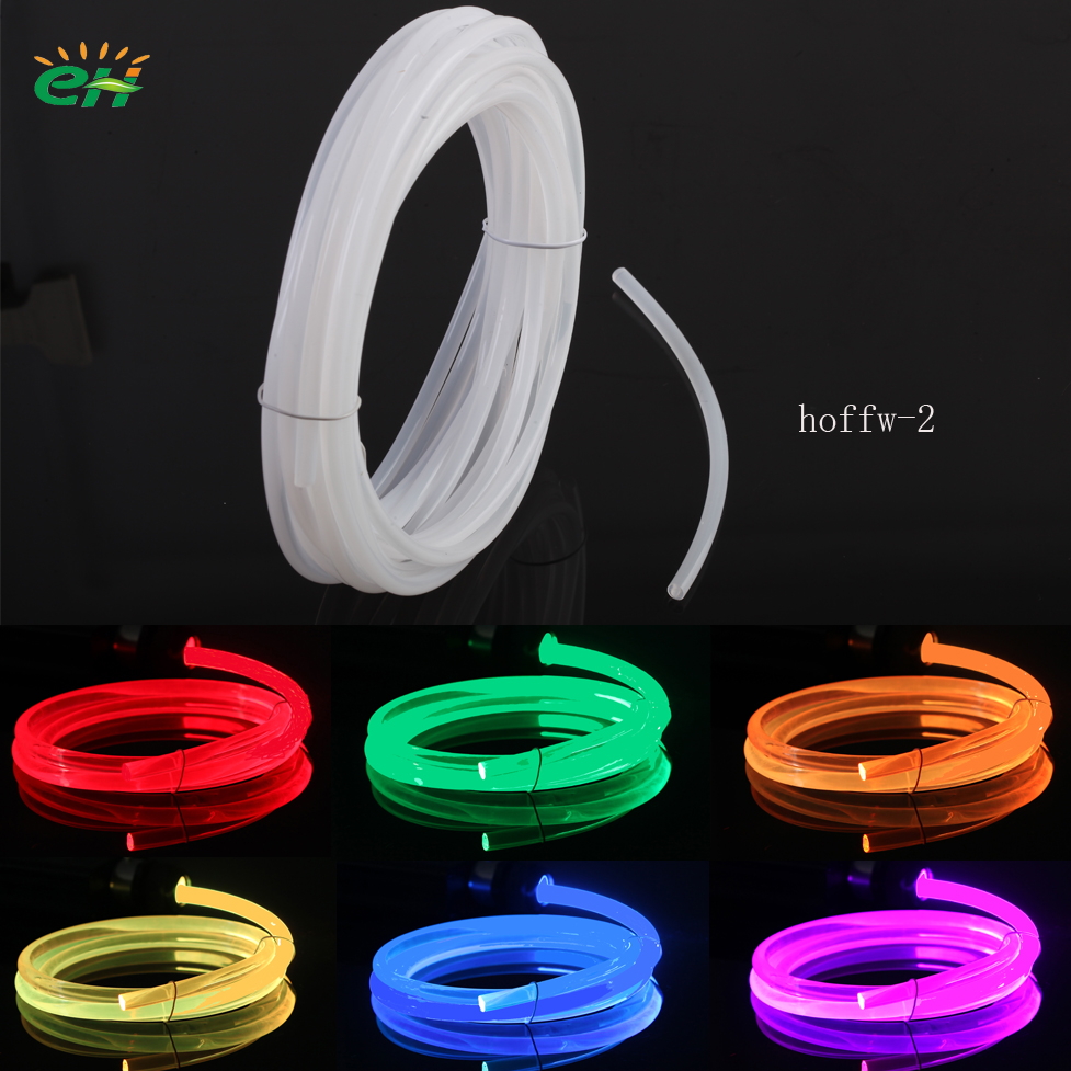 Cream Color 2.0mm Led RGB Side Glow Optic Fibre Optics Fibra Lighting Cable