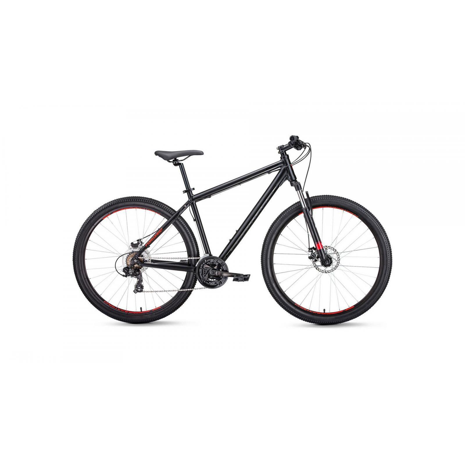 Mountainbike vorwärts Apache 2,0 disc 27,5 (2020), farbe schwarz matt
