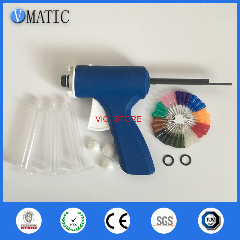 Quality 10cc/ml Single Glue Epoxy Dispenser Glue Caulking Gun Syringe Adhesive Gun
