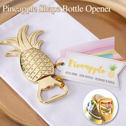 Beer Wine Bottle Openers Personalized Kitchen Tool Pineapple Bottle Opener Gold Color Wedding Birthday Favor Zinc Alloy Openers