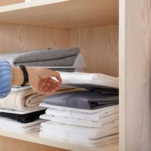 15 шт./компл. домашняя простая одежда Складные держатели для хранения шкаф отделочные стойки Домашняя рубашка Нижнее белье Органайзер штабелируемые доски