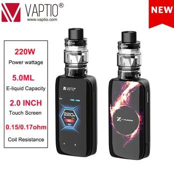 цена на E Cigarette BOX MOD 220W KIT VAPTIO X-HUBBLE KIT Vape kit e-cigarettes 5.0ml tank touch Screen long last and huge power battery