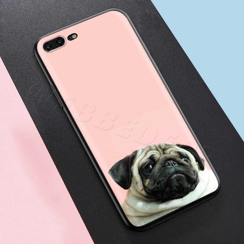 Webbedepp Động Vật Dễ Thương Chó Pug Dành Cho iPhone 11 Pro XS Max XR X 8 7 6 6S plus 5 5S SE