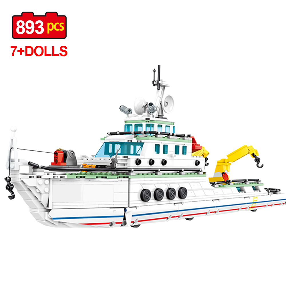 NEW aircraft carrier Patrol boat Figure Building Block Toy Fit with LEGO