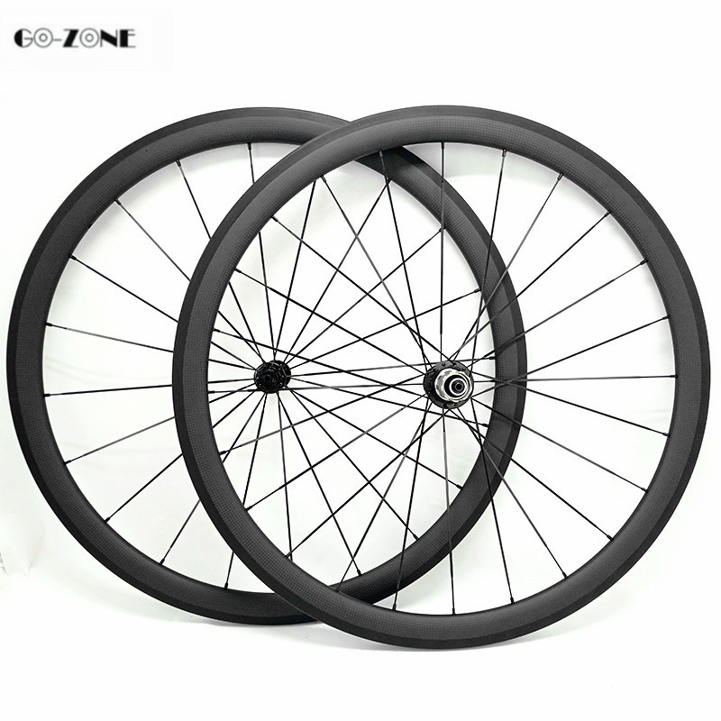 Roue carbone pour velo route 38x25mm clincher or tubular road bicycle carbon wheels Powerway R13 100X9 130X9 700c bike wheelset(China)