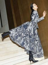 Для женщин ретро 3d печатных Высокая Талия плиссированная юбка