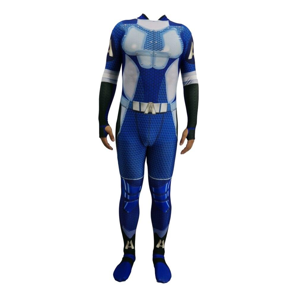 2020  Homelander The Deep Boys Cosplay Costume Halloween Costumes The Seven Homelander A-Train Super Hero Costumes Jumpsuits 3