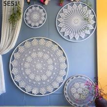 One piece big handmade flower dream catcher DIY wall decorations home shop bar wedding scene ornaments