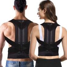 Neoprene masculino feminino postura corrector ajustável cinta suporta cinto impede slouching ombro cinto S-4XL tamanho
