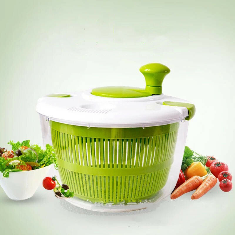 Large Manual Salad And Vegetable Washer Spinner Dryer Household Fruit Vegetable Dehydrator image