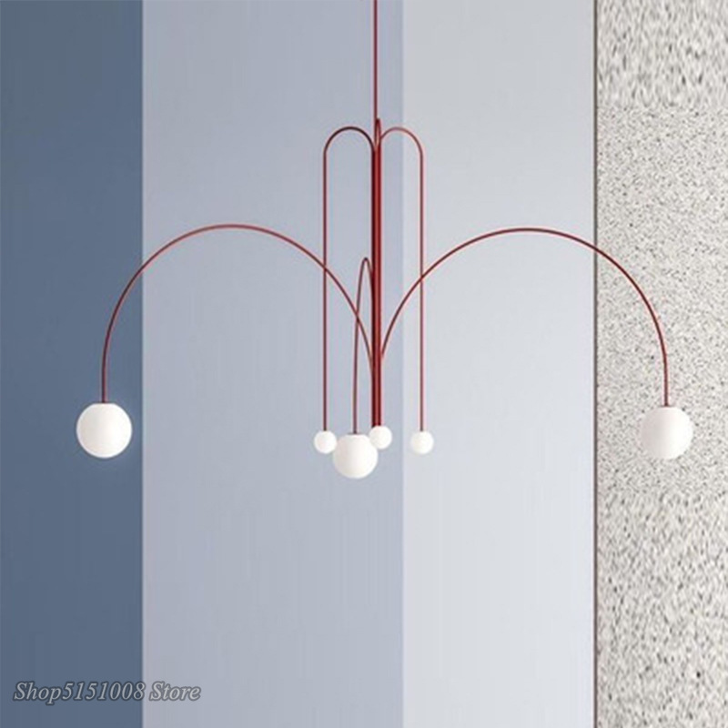 Italian Led Iron Pendant Lights Bedroom Living Room Pendant Branch Glass Bedside Lighting Decor Kitchen Hanging Lamps Luminaria