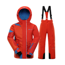 2021 New Ski Suit Kids Winter -30 Degree Snowboard Clothes Warm Waterproof Outdoor Snow Jackets + Pants for Girls and Boys Brand