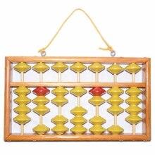 Высококачественная 7 Колонка деревянная вешалка большого размера NON-SLIP Abacus китайский соробан инструмент в математике образование для учеников