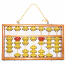 high quality 7 column wood hanger big size NON-SLIP Abacus Chinese soroban Tool In Mathematics Education for teacher students 9 column hangering plastic abacus chinese soroban tool in mathematics education for teacher calculation tool xmf007