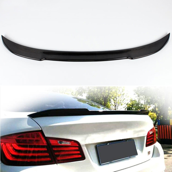 Use for BMW 5 Series F10 spoiler 2010--2017 year real glossy carbon fiber rear wing CS style Sport Accessories body kit