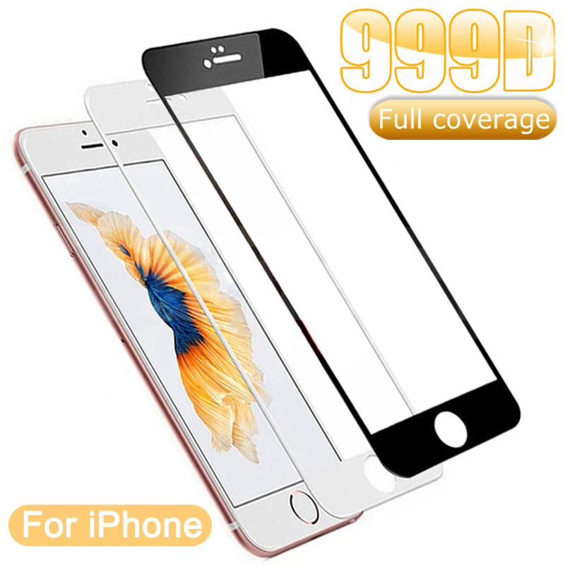 999D Tempered Glass on the For iPhone 7 8 6 6S Plus Screen Protector on iPhone 11 Pro XS Max X XR 5 5S SE 2020 Protective Glass 1