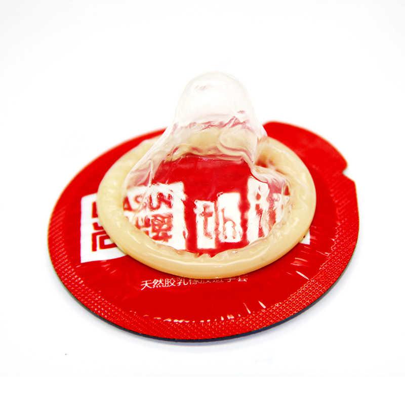 Elasun Kondom 100 Pcs/lot Plus Ukuran Penis Varietas Yang Berbeda Besar Paku Api Es Kondom Minyak Penuh Halus Pelumas Kondom