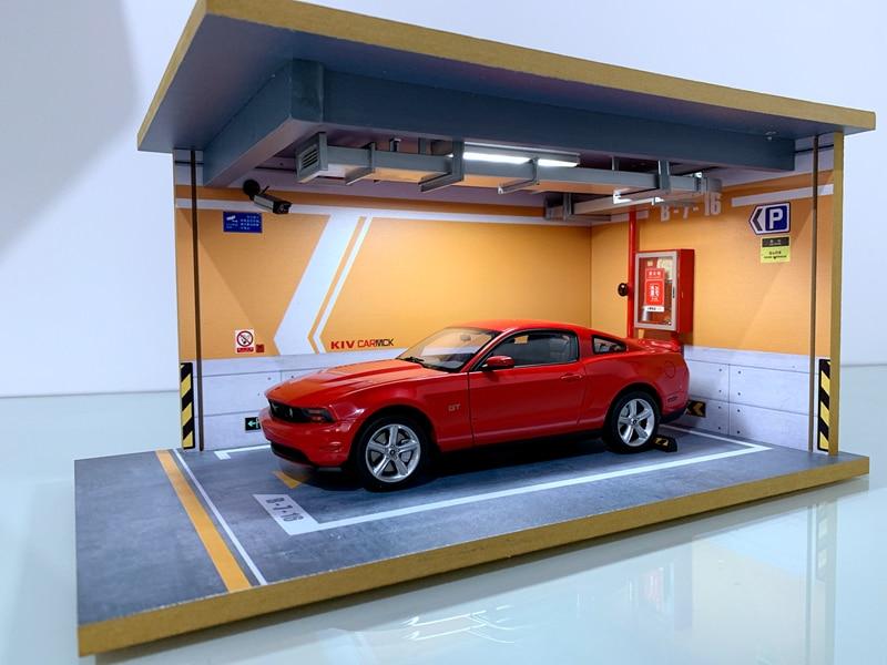 1:18 Alloy Model Car Solid Wood Underground Garage Parking Lot Children's Toys  Parking Space Scene Gift