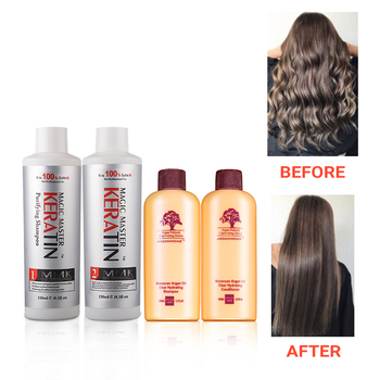 120ml Keratin Without Formalin Coconut oil Repair Damaged&Straighten Hair +120ml Purifying Shampoo+Travel Suit mqan 120ml