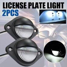 Luz led trasera Universal para matrícula de coche, lámpara blanca de 12V y 24V, 3 leds, 4mm/pulgadas, accesorios para coche, camión, remolque, caravana