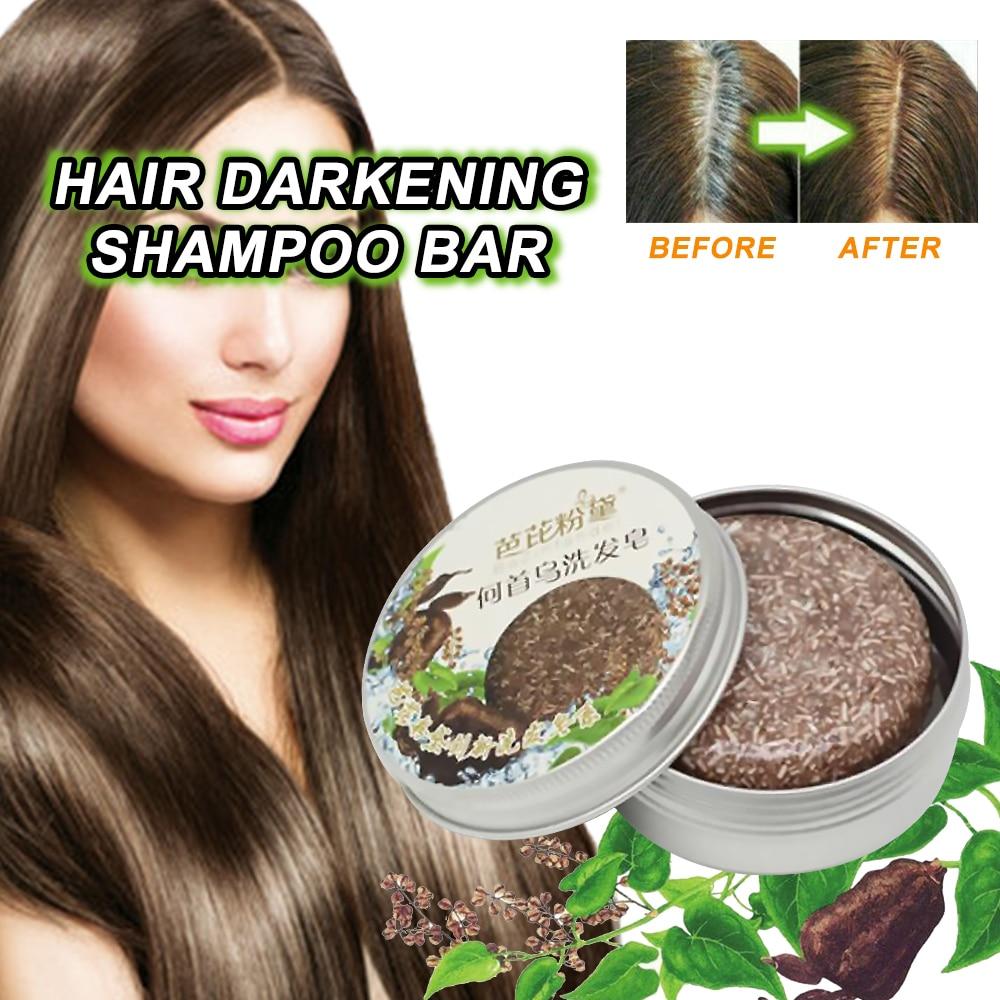 Hair Darkening Shampoo Bar Soap Hair Shampoo Polygonum Essence Hair Cleansing