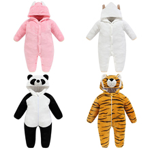 Infant Jumpsuit Toddler Romper Winter Clothes Animal Zipper Newborn Baby-Boy-Girl Children