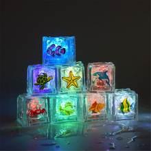 8 шт Светящиеся Кубики льда для морских животных детская игрушка