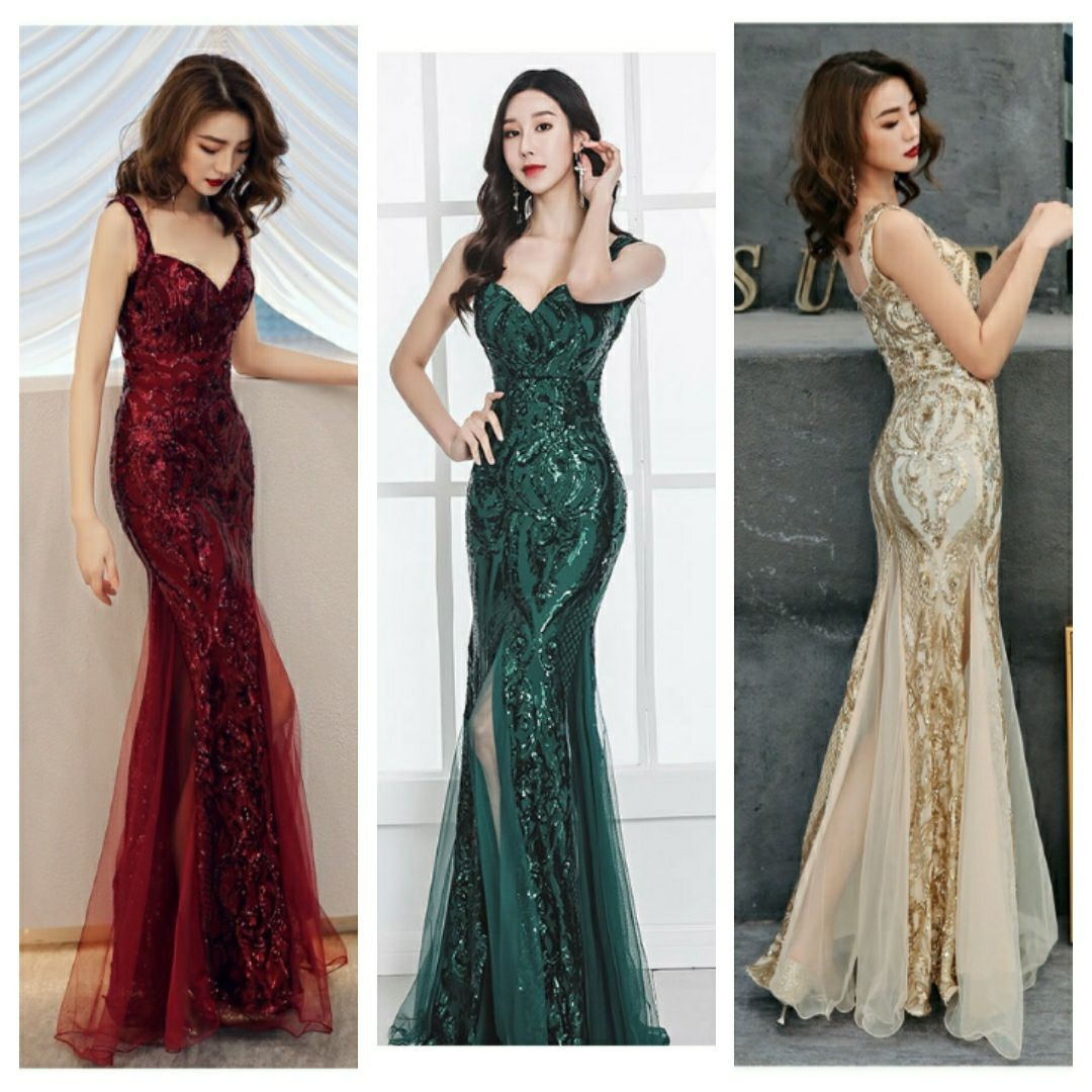 Shinny Gold Sequined V Neck Sleeveless Plus Size Evening Dresses Sexy Robe De Soiree Formal Dress Luxury Club Party Vestidos
