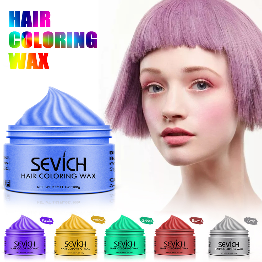 Sevich 150g Disposable Hair Color Wax Styling DIY Mud Paste Dye Cream Hair Gel Salon Unisex Hair Coloring Molding Dye TSLM2-in Hair Color from Beauty & Health