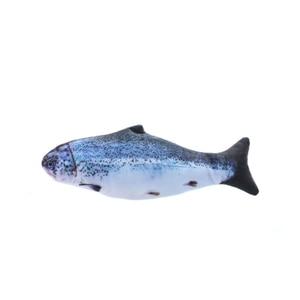 Image 5 - ค่าเฉลี่ยปลาของเล่น Catnip สำหรับแมวที่สมจริงตุ๊กตาตุ๊กตาหมอนเคี้ยวกัดของเล่นแมวปลา Flop Cat Wagging ปลาของเล่น Catnip