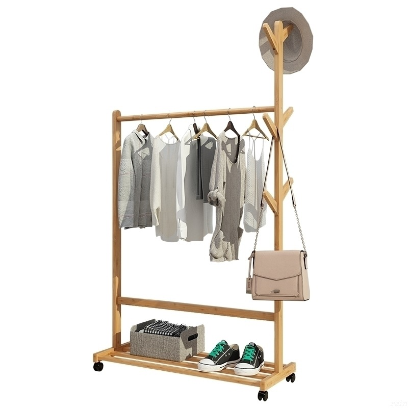 Clothes Tree Hangers Set Coat Rack Hats Scarf Hanger Office Hotel Wooden Storage Clothing Racks Stand