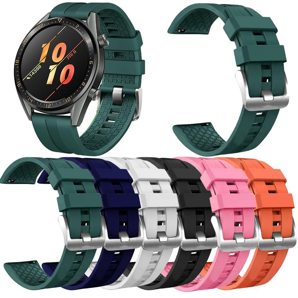 Silicone Watch Band For Huawei Watch GT / Watch Active 46mm / Honor Magic Bands Replacement Watchband Straps 2019 New Arrival