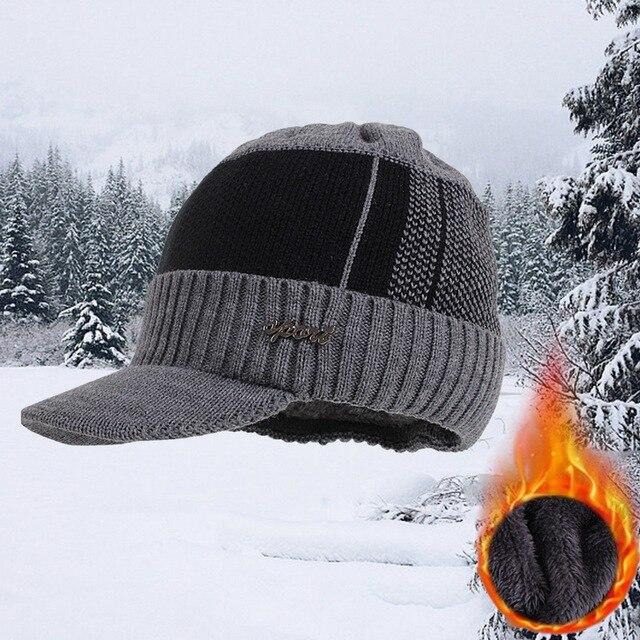 Winter Hats For Men Skullies Beanie Hat Winter Cap Men Women Wool Scarf Caps Set Balaclava Mask Gorras Bonnet Knitted Hat 2020 4