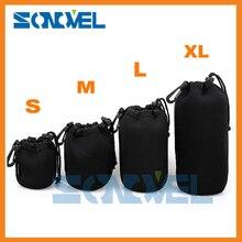 Pełny rozmiar S M L XL uniwersalny neoprenowy wodoodporny miękkie obiektyw kamery wideo etui torba dla Canon Nikon Sony obiektyw hurtownie
