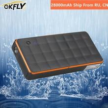 GKFLY 28000mAh High Power Car Jump Starter Waterproof Starting Device Power Bank Car Battery Booster for Petrol Diesel Car