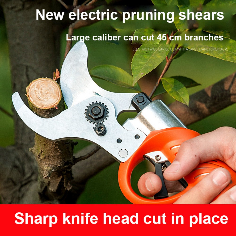 Shears Electric Pruner Pruning Secateurs Li For Grafting Electric Scissors 4400mah Plants Rechargeable Portable Garden Battery