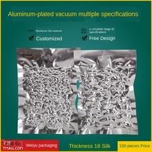 Aluminum Foil Vacuum Bag18(S)Aluminized Vacuum Sealer Bag Silver Food Vacuum Bag Vacuum Plastic Sealed Food Bag Wholesale