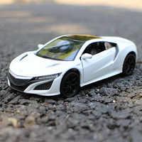 Modelo de colección de coches deportivos para Honda Acura NSX, escala 1:36, Metal fundido a presión, escala