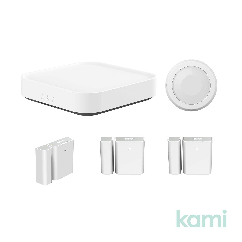 YI Kami Smart Security Starter Kit With Base Station Wireless Window And Door Entry Sensor PIR Human / Pet Detection Sensor