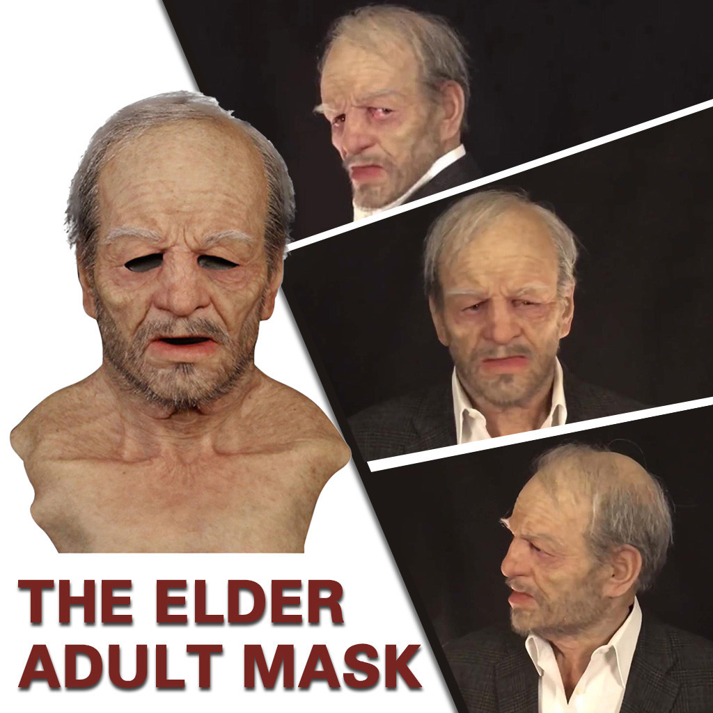 Хэллоуин, карнавал, праздник, смешные маски, ужасная жуткая маска для взрослых, другая я-старшина, супермягкий для косплей-реквизиты для веч...