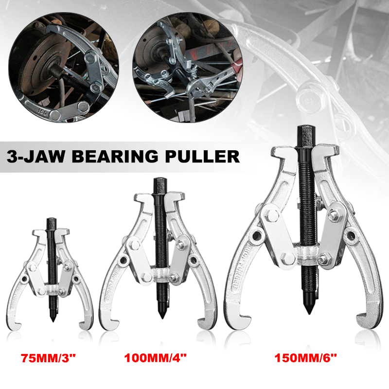 3/4/6/8 Inch 3 Jaws Inner Bearing Puller Auto Gear Remover Car Repair Tool Mechanic Pulling Extractor 75mm 100mm 150mm 200mm